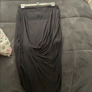 Grey hi-lo express skirt